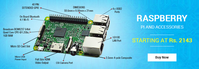Raspberry Pi and Accessories at best prices