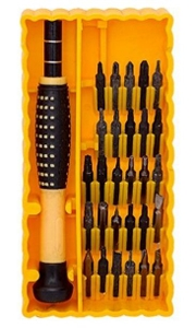 jackly 6038a screwdriver bit sets steel yellow available. Black Bedroom Furniture Sets. Home Design Ideas